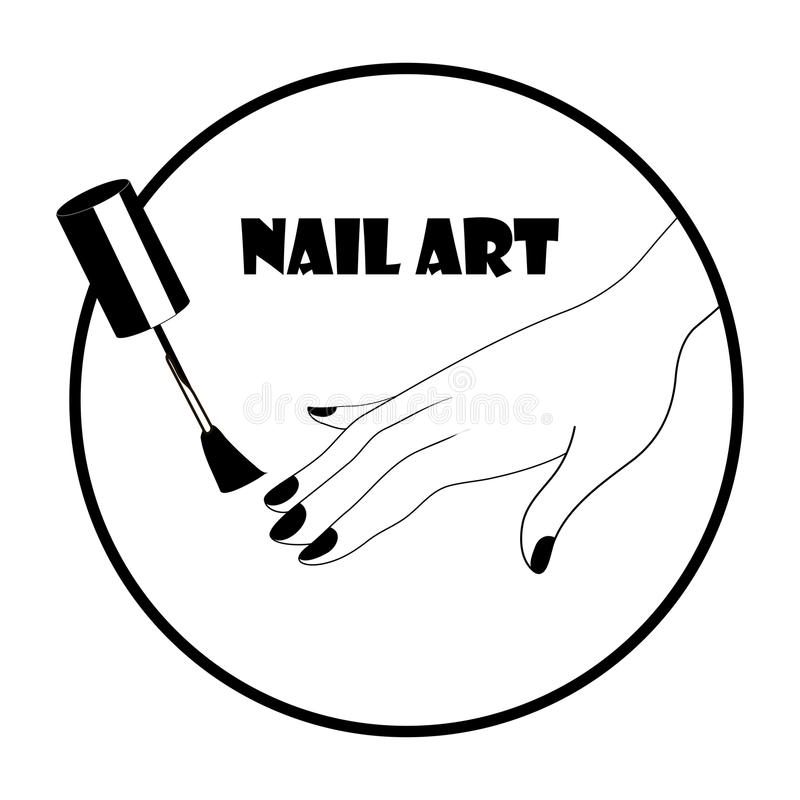 Download Nail Art Logo Stock Illustration Of Glass