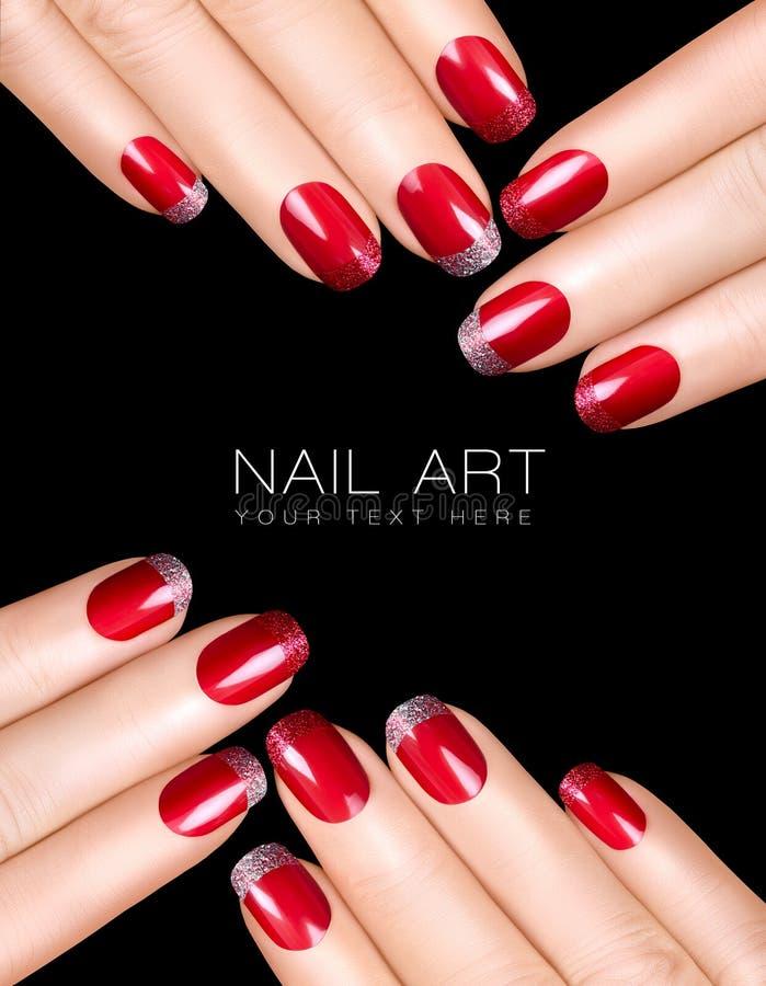 Nail Art. Luxury Nail Polish. Nail Stickers Stock Image - Image of ...