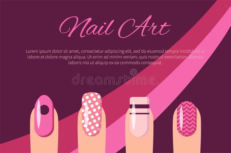 Nail Art Multicolored Poster Vector Illustration Stock Vector ...