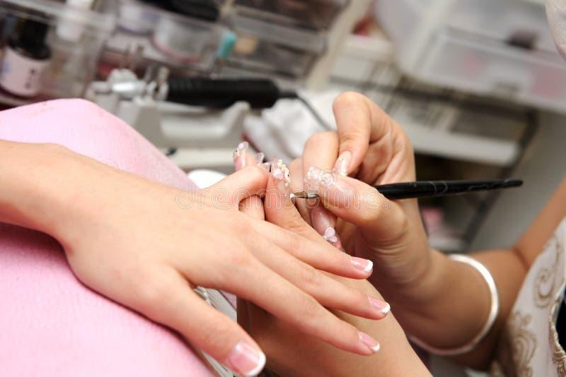 Nail beauty stock photo