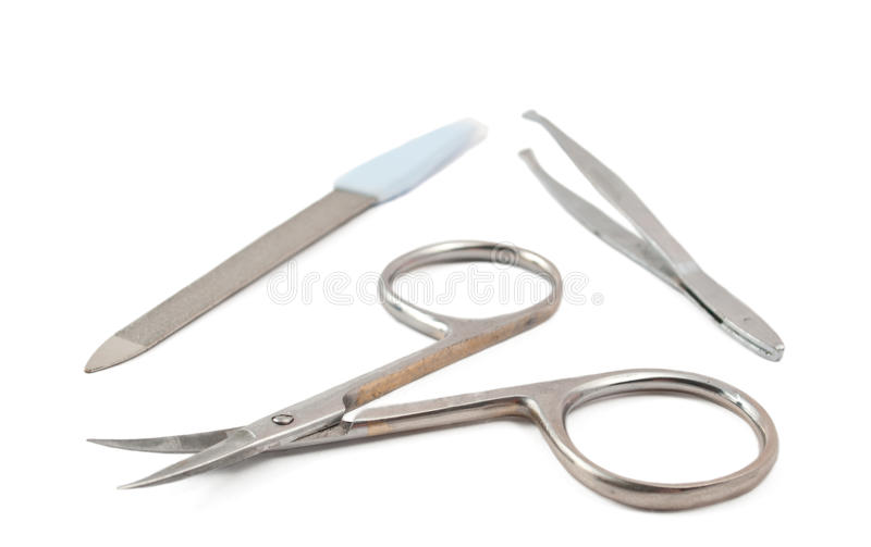 Nail clippers, tweezers, nail file