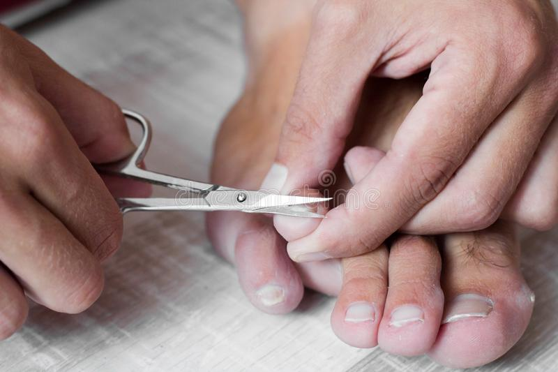 Nail clipping stock images