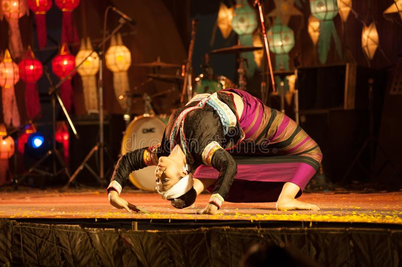 Nail Covered Dance Is A Northern Traditional Dance In Thailand