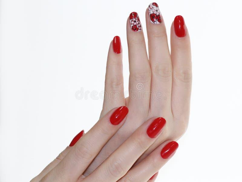 Nail Design . Manicure Nail Paint . Stock Image - Image of salon ...