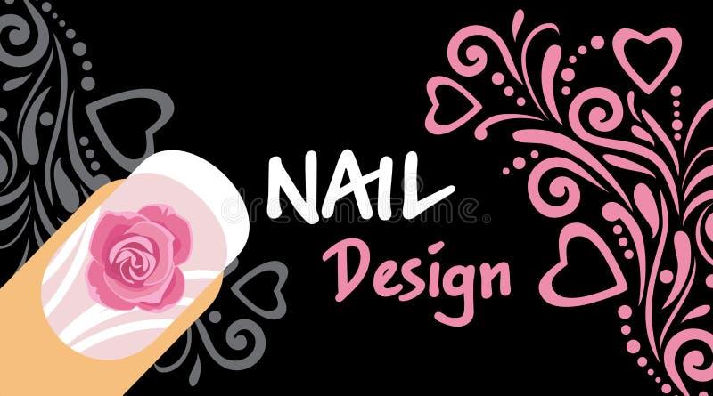 Nail design. Sample business card stock image