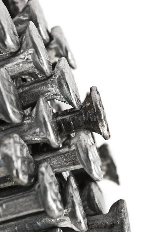 Download Nail ends macro stock photo. Image of detail, nail, iron - 25109150
