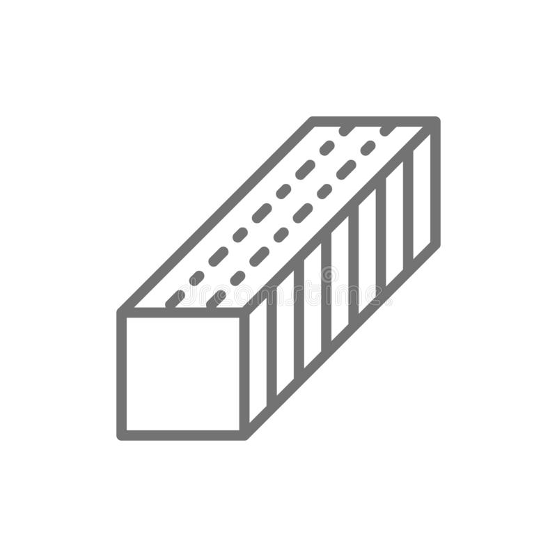 Nail file, manicure buffer line icon. royalty free illustration