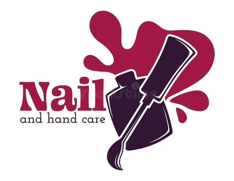Nail and hand care isolated icon nail polish or varnish royalty free illustration