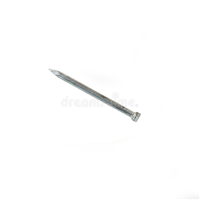 Download Nail Isolated on White stock image. Image of secure, metal - 15169