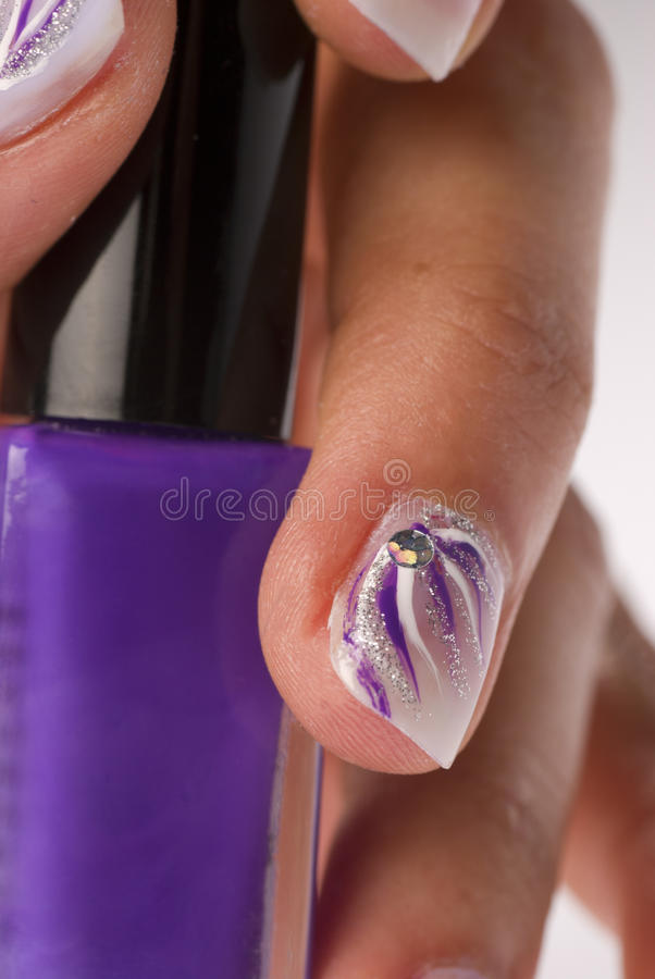 Nail lacquer stock image