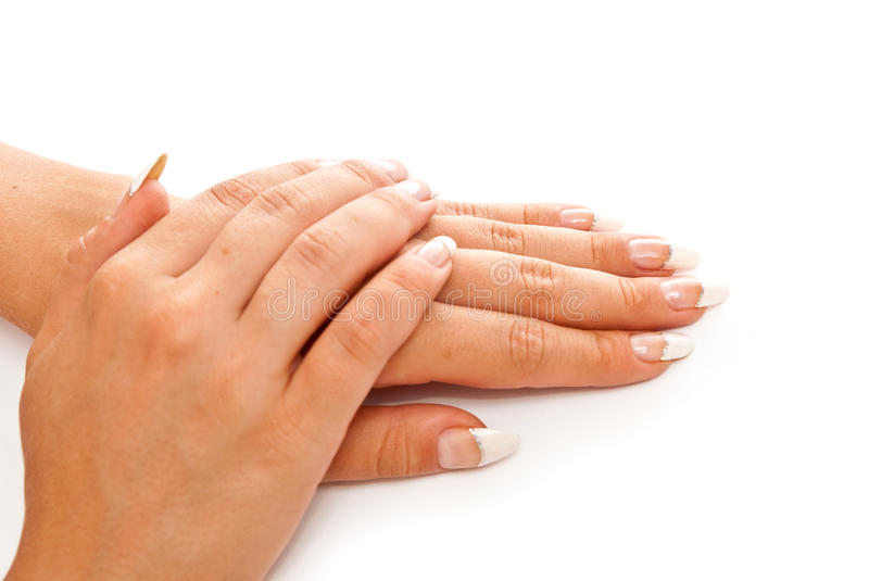 Nail manicure stock photos