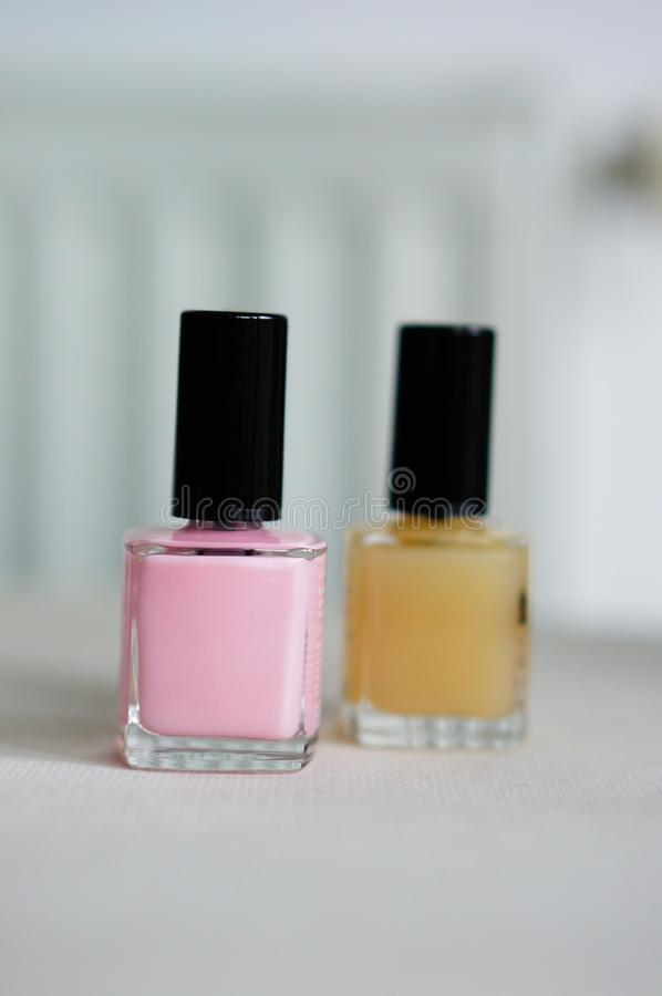 Nail paint bottles stock image. Image of care, glass - 40757785
