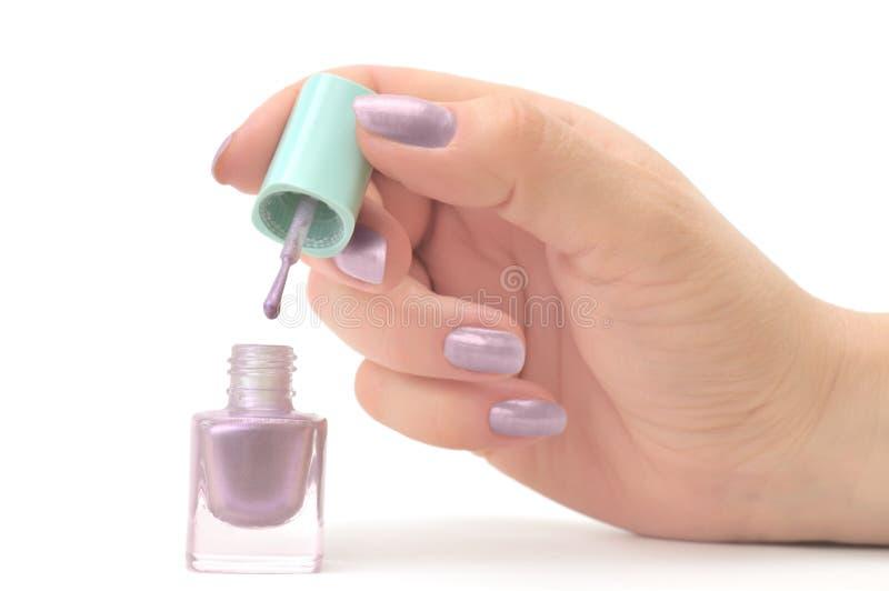 Nail polish. Isolated on a white royalty free stock photo