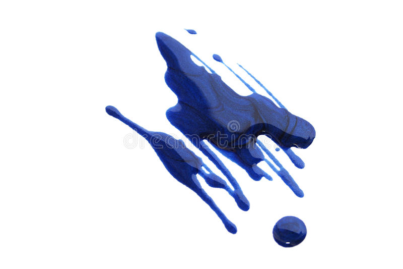 Nail polish. Spilled nail polish on white background stock image