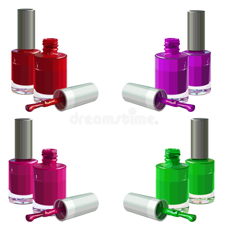 Nail_polish stock illustratie
