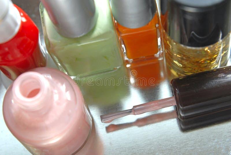 Nail polish. Close up of nail polish royalty free stock photos