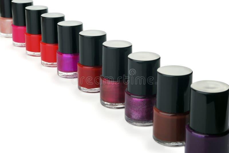 Nail polish bottles royalty free stock photo