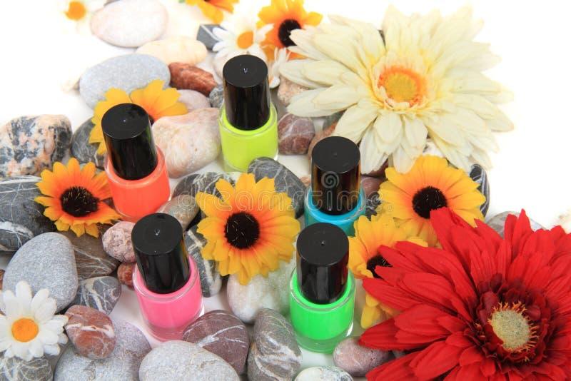 Nail polish isolated on the white background royalty free stock photo
