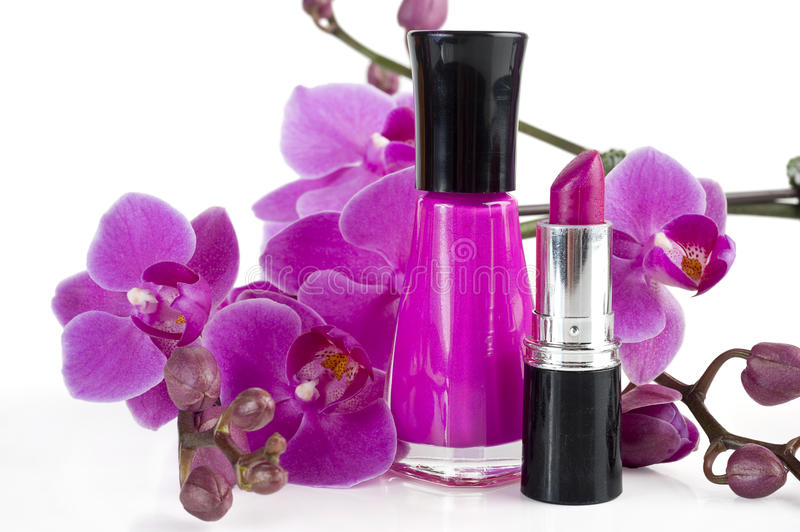 Download Nail Polish and Lipstick stock image. Image of accessory - 18903433