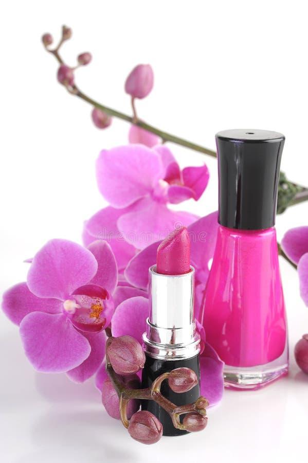 Nail Polish and Lipstick stock image