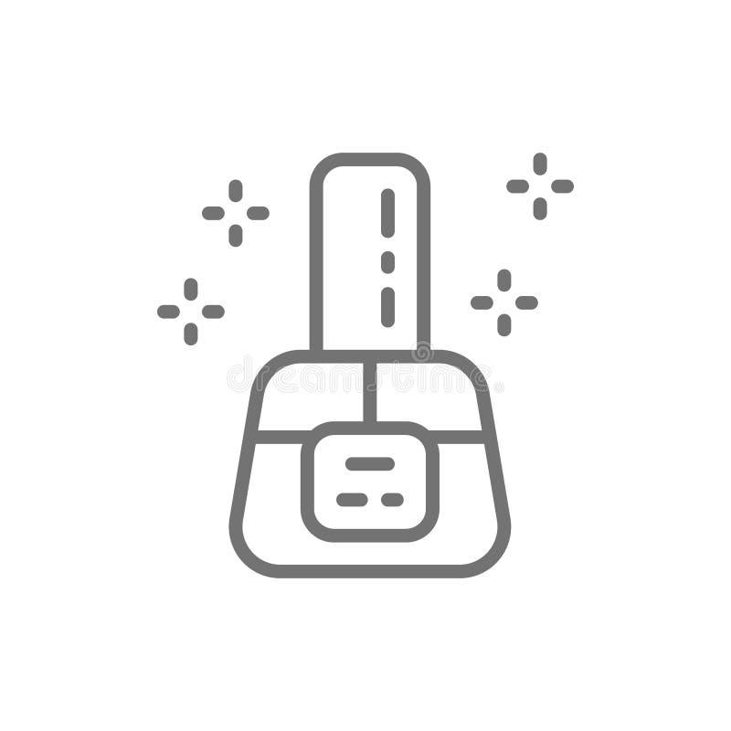 Nail polish, manicure base, nails gel line icon. vector illustration