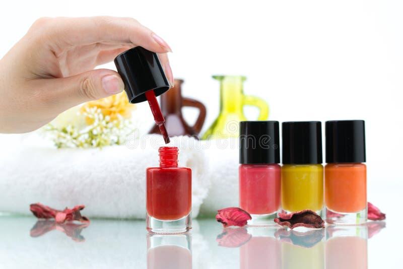 Nail salon royalty free stock images