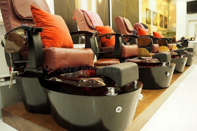 nail spa chair royalty free stock photography