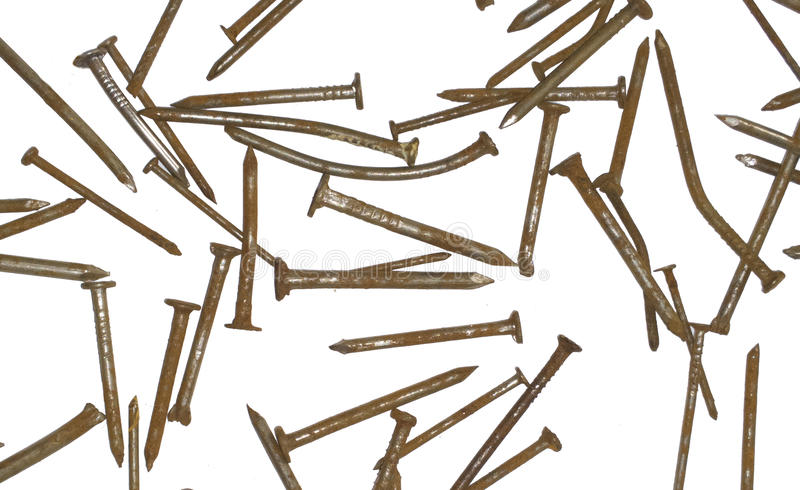 Nail texture. Industrial background. rusty old Grunge Pattern stock photography