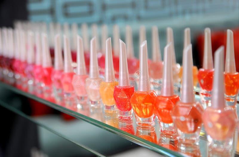 Nail vanish. Many nail vanish many colour stock photo