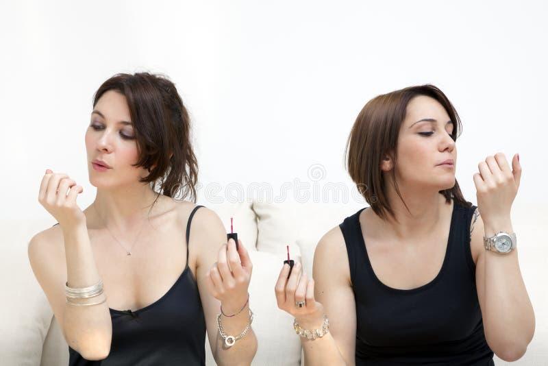 Nail varnish stock photography
