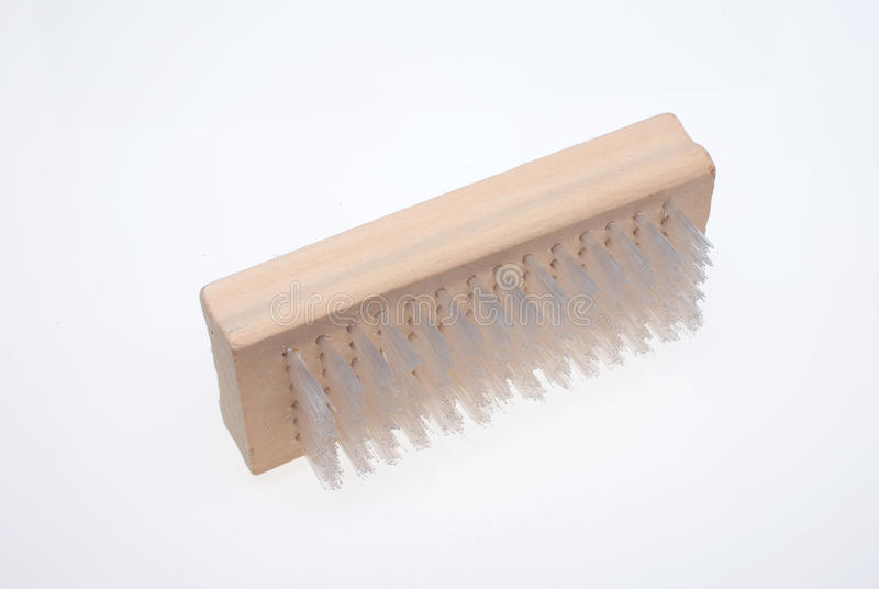 Nailbrush. A nailbrush over white ground, beauty product royalty free stock photography