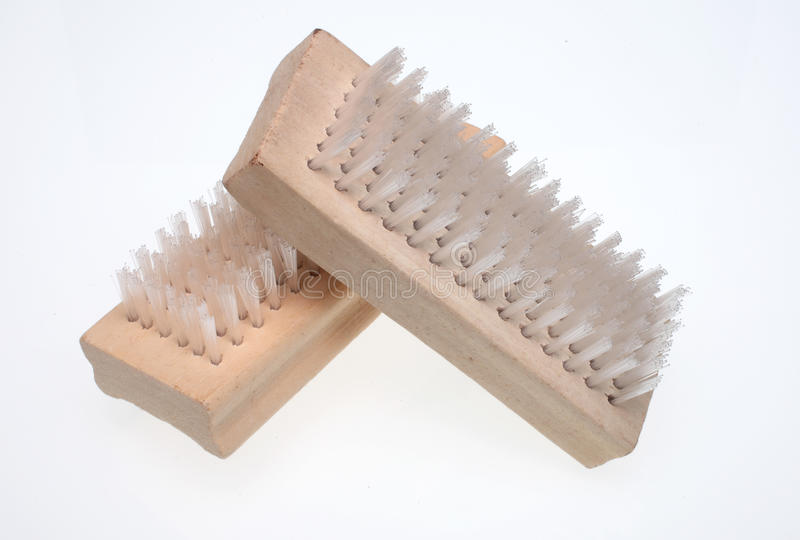 Nailbrush. A nailbrush over white ground, beauty product stock images