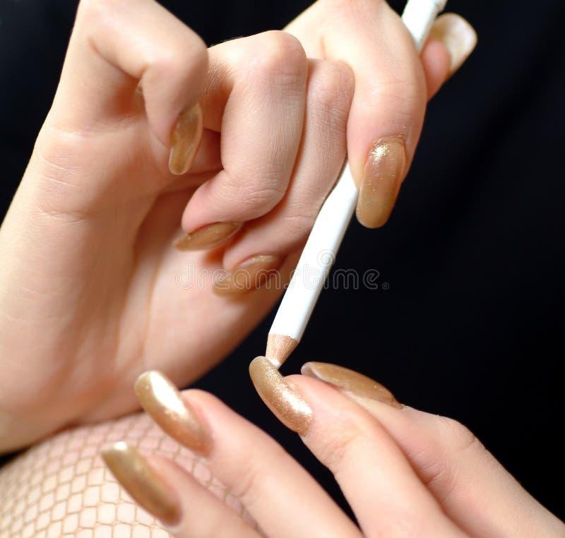 Download Nailcare foto de archivo. Imagen de dedo, fishnet, manicure - 1294524