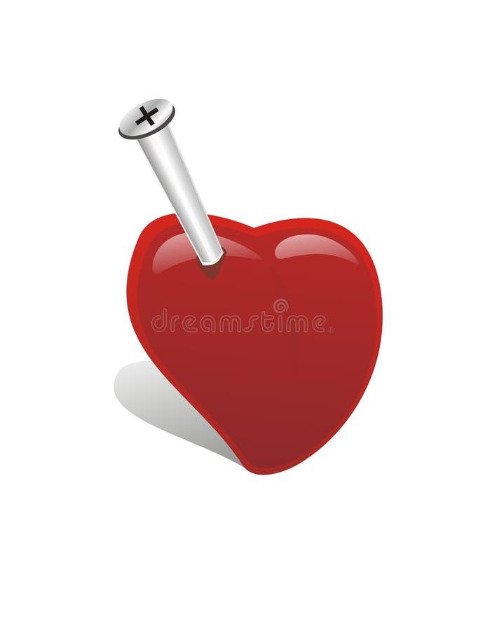 Nailed Heart Royalty Free Stock Photography