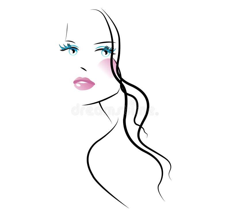 nailfile καρφιά ομορφιάς που γυαλίζουν το σαλόνι διανυσματική απεικόνιση