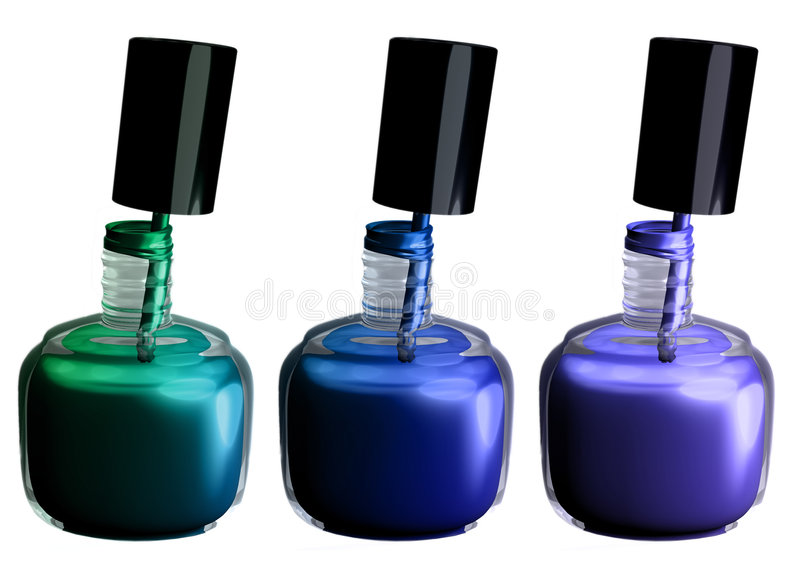 Nailpolish stock abbildung