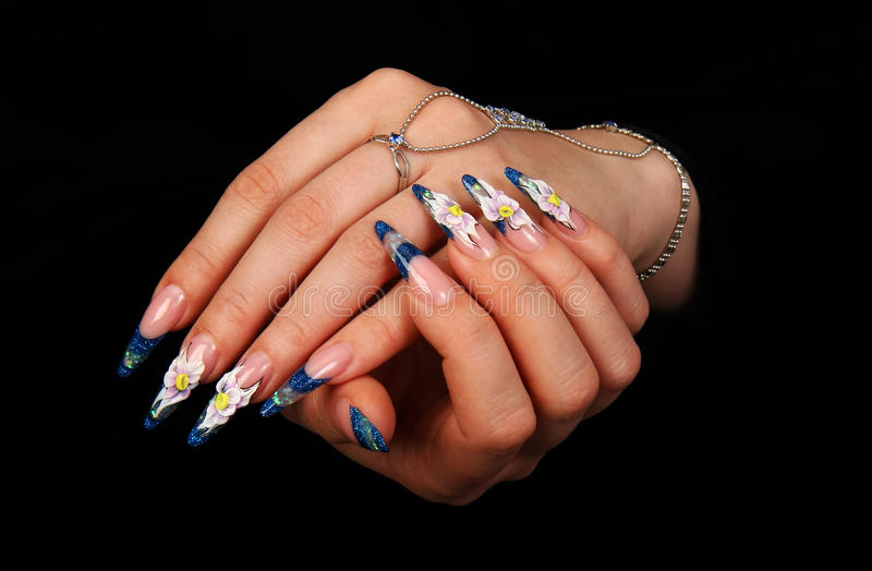 Download Nails stock image. Image of acryle, manicure, woman, drawing - 13525013