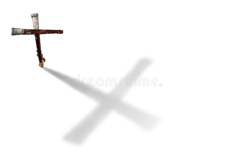 Download Nails Casting A Large Cross-shaped Shadow Stock Photo - Image: 3724792