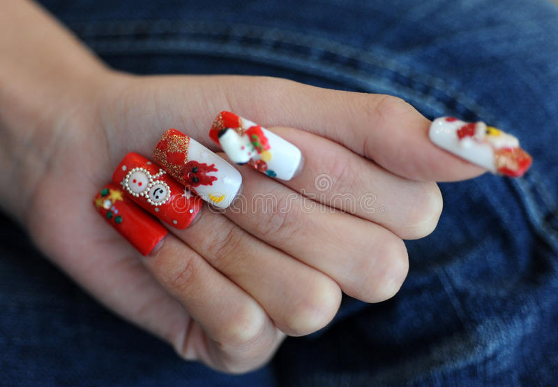 Download Nails for Christmas time stock photo. Image of body, elegant - 13407564