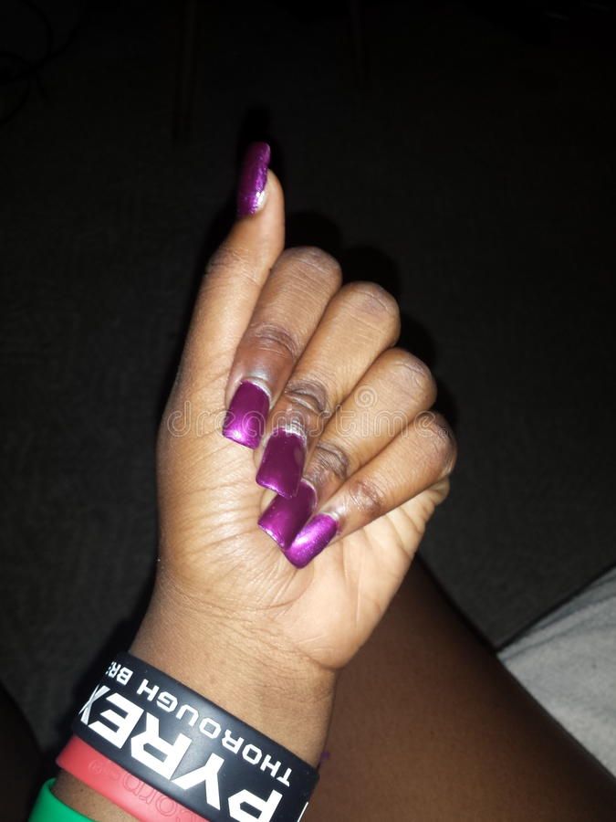 Nails done by me royalty free stock images