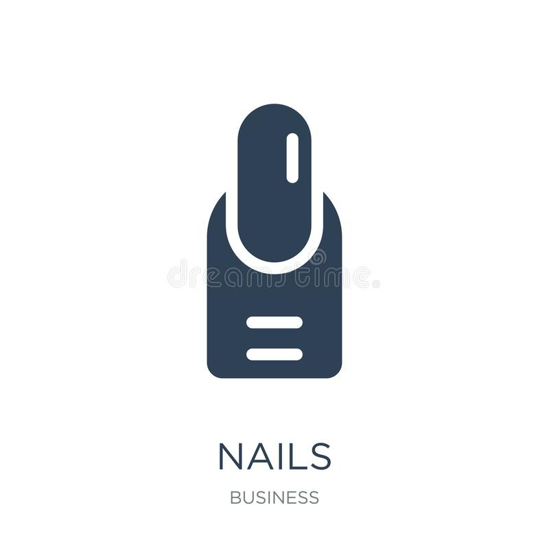 Nails icon in trendy design style. nails icon isolated on white background. nails vector icon simple and modern flat symbol for. Web site, mobile, logo, app, UI royalty free illustration