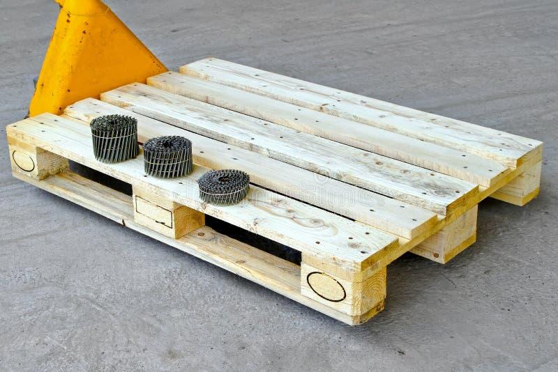 Download Nails for pallet stock image. Image of euro, platform - 16634363