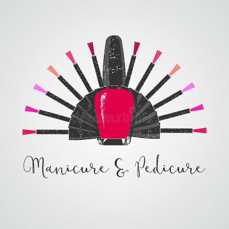Nails vector logo vector illustration