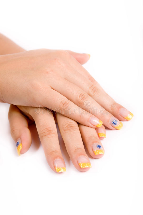 Nails on white royalty free stock images