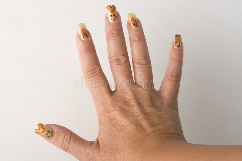 Nails1 stock image