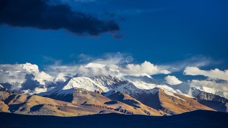 Naimona nyi,登上纳木那尼峰,备忘录娜妮,西藏峰顶  免版税库存图片