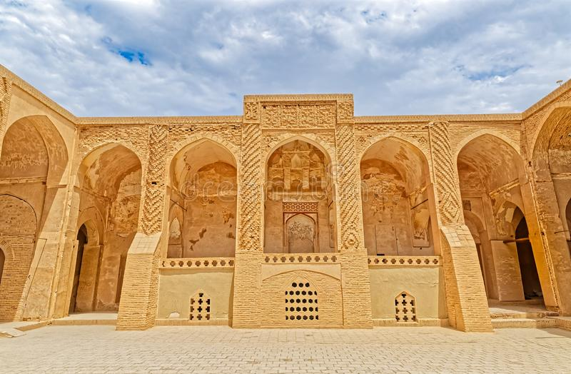 Nain old mosque courtyard royalty free stock image