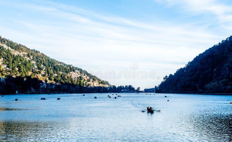 Nainital See Indien stockbilder