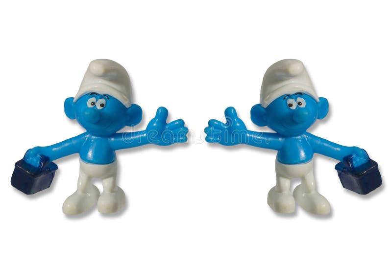 Nains de jouet d'amusement de Smurfs photo libre de droits