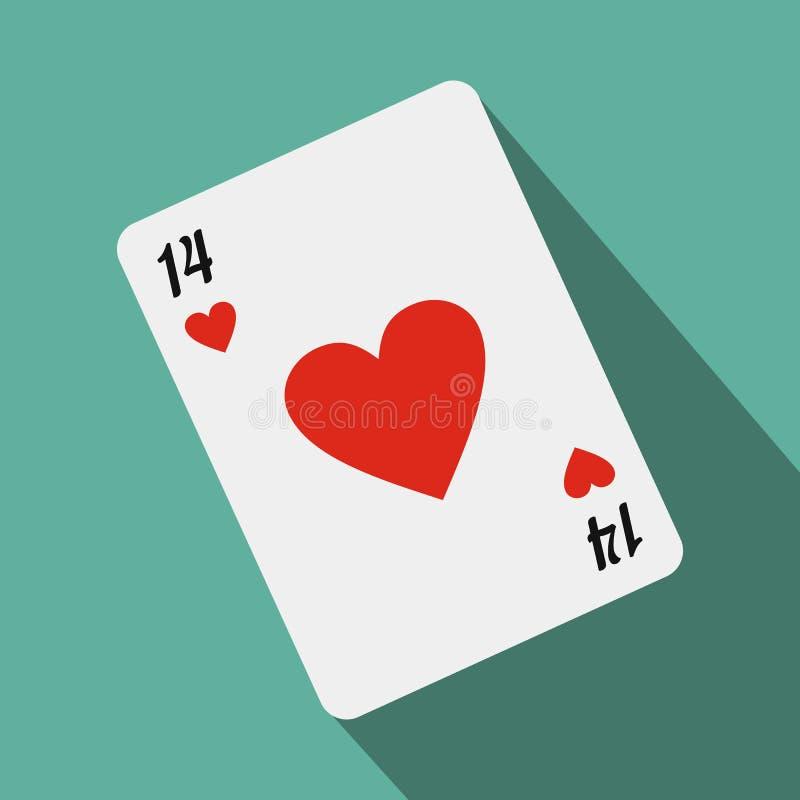 Naipe con el corazón rojo libre illustration